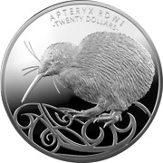 New Zealand 2020 20 - Brown Kiwi Kilo - 1 Kg 999.9 Silver Coin. Limited Edition
