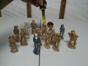 Lot Of 14-ww1/ww2 Composition 3 1/2 Toy Soldiers.very Oldvery Rare