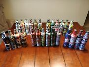 Mountain Dew Bottle Collection 26 Empty Bottles With Cap Green Label Art