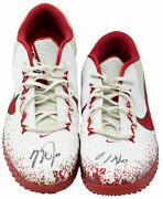 Mike Trout Signed Used 2017 L.a Angels Nike Workout Shoes Anderson Loa