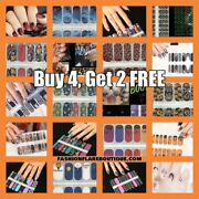 16-count 100real Halloween Nail Polish Strips Stickers Wraps - Buy 4 Get 2 Free