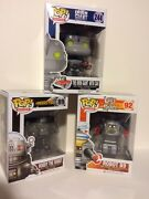 Funko Robot 3pc 3.75 Pop Set Lost In Space B9 - Iron Giant - Robby Robot