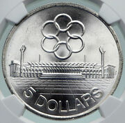 1973 Singapore Southeast Asia Games Seap Old Silver 10 Chinese Coin Ngc I86675