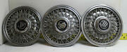 Oem Set Of 3 15 Wire Hubcaps E8my1130b 1988-91 Mercury Grand Marquis 2801