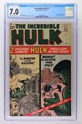 Incredible Hulk 4 - Marvel 1962 - Cgc 7.0 - Origin Of Hulk Retold