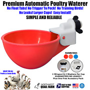 Automatic Watering Cups Poultry Drinker Waterer Chicken Duck Quail Pigeon