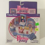 Vintage Fisher Price Precious Places Playroom Set Magic Key Mansion Complete