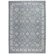 10and0391x13and0396 Gray Vintage Look Kazak All Over Design Natural Wool Rug R55970