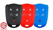 3x New Keyfob Remote Fobik Silicone Cover Fit / For Select Gm Cadillac Vehicles