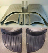 Chevrolet Chevy Gmc Coe Running Fender Step Plates And Pads 1939 - 1946 Ribbed