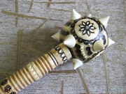 Handcrafted Wooden Mace Exclusive Ukrainian Souvenir Hand Carved Top Quality