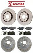 Front And Rear Full Brembo Disc Rotors And Brake Kit For 03-06 Mb W220 S430 S500