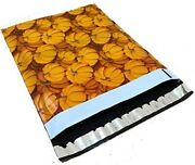 20 Designer Printed Poly Mailers 10x13 Shipping Envelopes Bags Fall Pumpkins