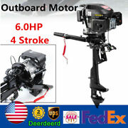 6hp 4 Stroke Outboard Motor Marine Fishing Boat Engine Single Cylinder Air Cool