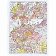 Germany Maps Charting The Years 887-1500 - Antique Map 1922 By Emery Walker
