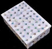 6x4x2 Designer Marble Inlay Jewelry Home Decorative Beautiful Art Boxes H4062
