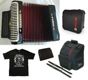 Hohner Xtreme Ead/mi Black Accordion Made In Germany +case, Bag And Straps Dealer