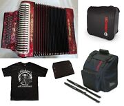 Hohner Xtreme Ead/mi Red Rojo Accordion Made In Germany +casebagstraps Dealer