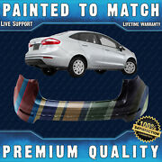 New Painted To Match - Rear Bumper Cover Fascia For 2014-2019 Ford Fiesta Sedan