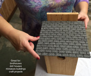 """Miniature Roofing Sheets - 8"""" X 8, Asphalt, Wargaming, Dollhouse, Libraries"""