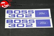 69-70 Ford Boss Mustang Shelby 302 Valve Cover Decals Pair Part Doze-6404-b
