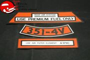 71 Ford Boss 351 Ram Air Aftermarket Air Cleaner Decal Set 3 Pieces