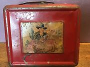 1950's Vintage Hopalong Cassidy Metal Lunch Box And Thermos - Western