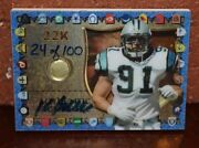 Very Rare Kevin Greene 22k Authentic Signature And Piece Of Helmet 24 Of 100 Card