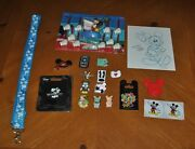 Disney World Land Mickey Mouse Birthday Welcome Package Pins, Candles, Lanyard..