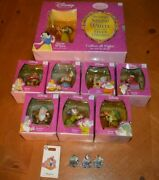 Snow White And The Seven Dwarfs Cvs / Disney World Special Set Of Figurines And Pins