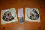 Perillo Council Of Nations Plates Strength Of The Sioux And Courage Of The Arapaho