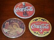 Exclusive Vintage Style Coke Coca Cola Ad's Triple Pack Of Compact Mirrors