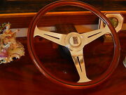 Rolls Royce Silver Shadow Ii Wood Steering Wheel Magnolia Horn Button Nardi New
