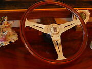 Rolls Royce Silver Shadow 1 Wood Steering Wheel Magnolia Horn Button Nardi New