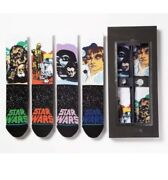 New Stance Special Edition Star Wars Holiday Gift Box Set 4 Crew Socks + 2 Pins