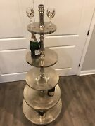 """Xl 65"""" 5 Tier Party Cake Stand Display Floor Catering Wedding New Years Eve"""