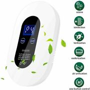 Wall Mounted Air Purifier Ozone Generator Negative Ion Deodorize Portable Home