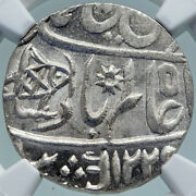 1749 Fe 1229 India British Old Bombay Presidency Silver Rupee Coin Ngc I86949