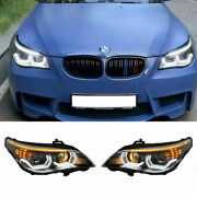 For Bmw 5 Series E60 Led Headlights Projector Drl 2004-2007 Replace Oem Halogen