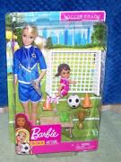 Barbie You Can Be Anything Soccer Coach Doll Playset New