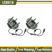 Timken Front Wheel Hubs And Bearings Pair Set 6 Lug For Chevy Gmc 2wd 2x4