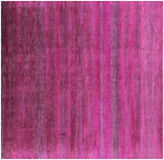 8and039 Square Gabbeh Savannah Grass Wool And Silk Hand Knotted Rug - Q6110