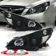 Clear Blk Head Lights Lamp Assembly Pair Left+right For 2010-2014 Outback Legacy