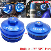 Aluminum Billet Oil And Fuel Filter Caps Cover For Ford F-series 6.0l Powerstroke