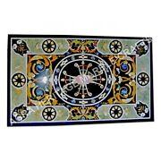 5and039x3and039 Italian Marble Inlaid Breakfast Center Table Top Inlay Home Interior E964a