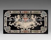 5and039x3and039 Marble Top Dining Room Table Pietra Dura Inlay Arts Hallway Decor H4979a