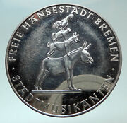 1965 Bremen German Free State Town Musicians Antique Proof Silver Medal I82422