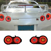 Led Taillights Assembly For Nissan Gt-r Dark / Red Replace Oem Rear Lights 09-20
