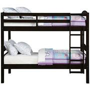 Twin Over Twin Bunk Beds For Kids Girls Boys Convertible Wood W/ Ladder And Rails
