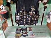 Xl Leather Vest - 100 Harley-davidson Pins - Patches - Hog Patches 2009 - 2018